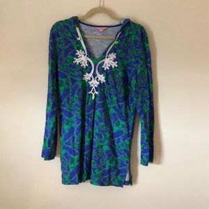 Lilly Pulitzer Blue and Green cover up
